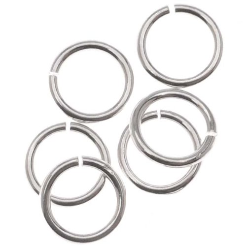 Beadaholique SS/JR32/6 10-Piece Sterling Open Jump Rings, 6mm, 20-Gauge, Silver ()