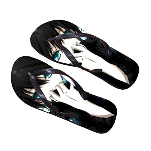 Bromeo BLACK ROCK SHOOTER Anime Unisex Flip Flops Chanclas 715