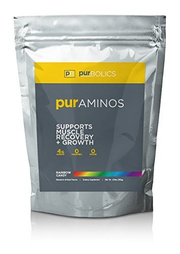 Purbolics Aminos | Supports Muscle Recovery & Growth | 4g of Free Form Amino Acids, Beta Alanine, 0 Calories & 60 Servings
