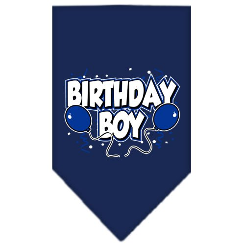 Birthday Boy Screen Print Bandana Navy Blue large (Bandana Print Screen)