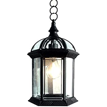 Charming ETopLighting Contemporary Collection Exterior Outdoor Pendant Hanging  Lantern With Beveled Clear Glass APL1023