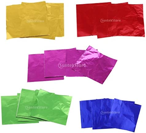 盛り合わせ キャンディ/チョコ 菓子包み紙 日常用品 ハンドメイク 箔ラッパー 包装用パッケージ 8x8cm 約500枚
