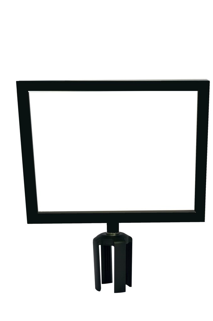 Tensabarrier FRAME-HDSC-33-1114HD-H Frame with Heavy Duty Horizontal Sign Cone, 11'' x 14'', Black by Tensabarrier (Image #1)