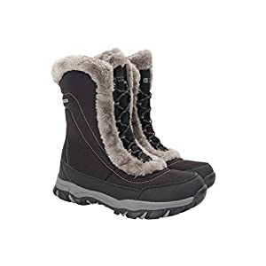 Mountain Warehouse Ohio Womens Snow Boots – Waterproof Ladies Winter Shoes, Textile Upper, Breathable Thermal Lining…
