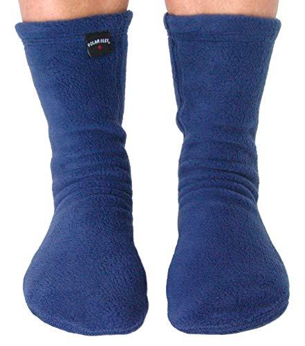 Polar Feet Adults' Non-slip Fleece Socks (XL (M 12-13), -