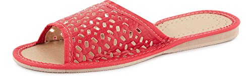 Zoccoli Rosso Pantofole Donna Scarpe LABR12 Aperte Ciabatte Ladeheid wIqTOx