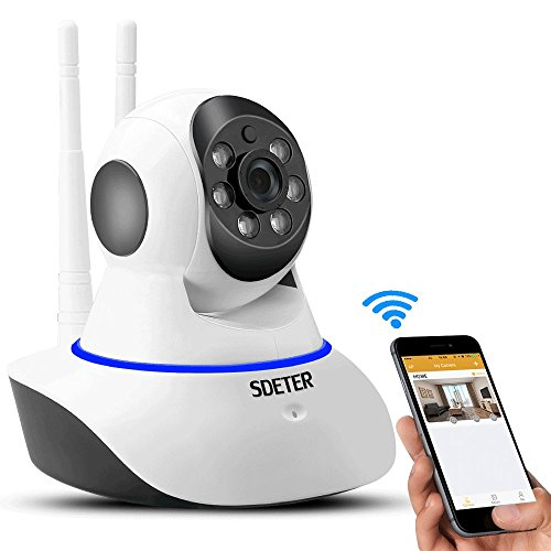 Buy cheap sdeter 720p home wireless camera wifi security with night vision and pan tilt card slot
