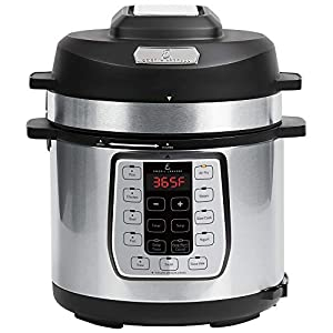 Emeril Lagasse Pressure Cooker, Air Fryer, Steamer and Electric Multi-Cooker. Air Fry Basket and Crisper Lid (6 Quart…