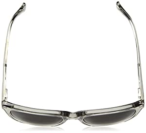 Cole Haan Men's Ch6009 Plastic Square Sunglasses, Crystal Grey, 55 mm
