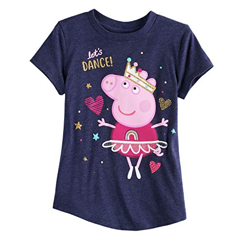 Peppa Pig Clothing (Jumping Beans Girls 4-10 Peppa Pig Let's Dance Tee 10 Peacoat)