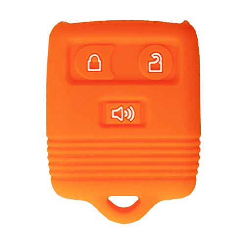 - qualitykeylessplus Protective Rubber Silicone Cover for 3 Button Ford Keyless Entry Remote Fobs FCC ID: CWTWB1U331 Part #213T-15K601-AB with Keytag Return Service