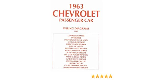 1963 Chevy Wiring Diagram Manual Reprint Impala Ss Bel Air Biscayne Rhamazon: 63 Chevy Wiring Diagram At Gmaili.net