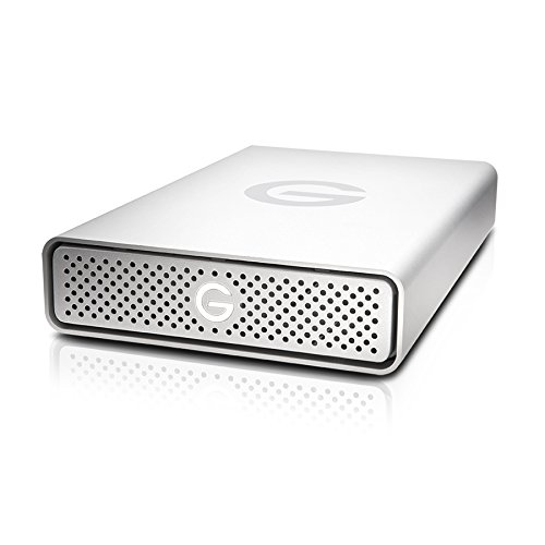 G-Technology 4TB G-DRIVE USB 3.0 Desktop External Hard Drive, Silver - Compact, High-Performance Storage - 0G03594