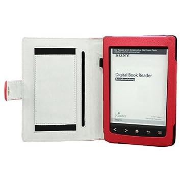 Cuero Funda de Piel Con Hand Ranura Slot Para Sony Reader PRS-T2 ...