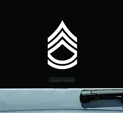United States Army Sergeant First Class Sfc E-7 Rank Insignia Vinyl Decal Sticker