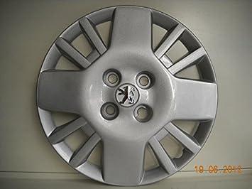 Juego de Tapacubos 4 Peugeot Bipper Diseño New Tapacubos 14 r () Logo Cromado: Amazon.es: Coche y moto