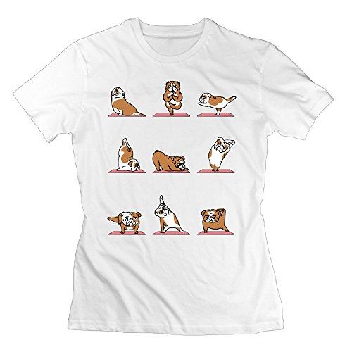 Bulldog Yoga Shirt For Female Short Sleeve Shirts