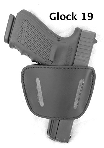 DTOM-Premium-LEATHER-not-synthetic-Universal-IWB-or-OWB-Ambidextrous-Belt-SLIDE-Holster