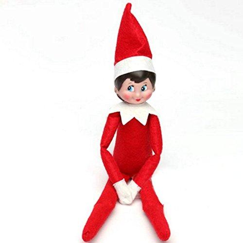 EEPIKE Christmas Novelty Elf Plush Dolls (red girl)