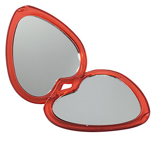 Heart Compact Mirror (Heart Shaped Compact Personal Makeup Mirror)