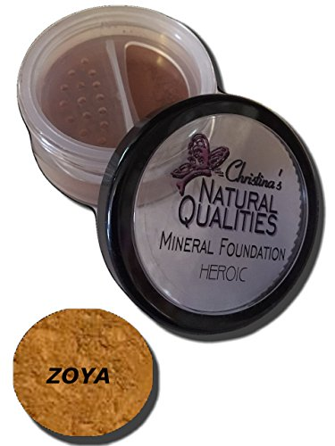 Christina's Natural Qualities All Natural Mineral Powder Foundation With Botanicals For Women of Color