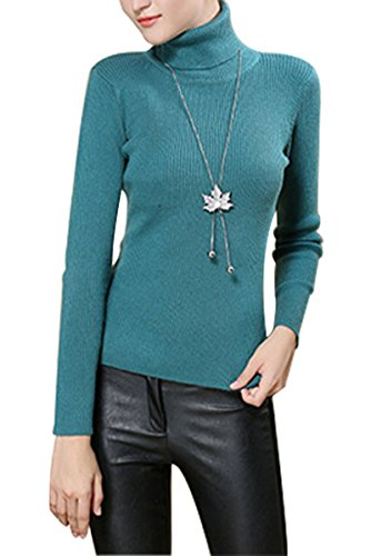 Sophieer Teen Girls Vogue Warm Kinitting Turtleneck Top Sweater Undershirt Green XL by Sophieer