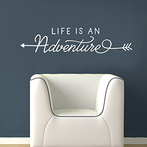 Life Is An Adventure | Adventure Wall Decal - Arrow Wall Decor - Adventure Quote by Old Barn Rescue