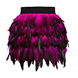 Sale Womens Skirt KpopBaby Christmas Santa Faux Feather A Line Cosplay Mini Skirt Halloween