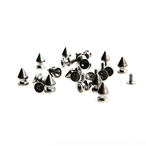 Tree Spike Studs and Spikes Metalic Screw Back Rivets for Leathercraft Punk DIY 12mm (50PCS, Black)