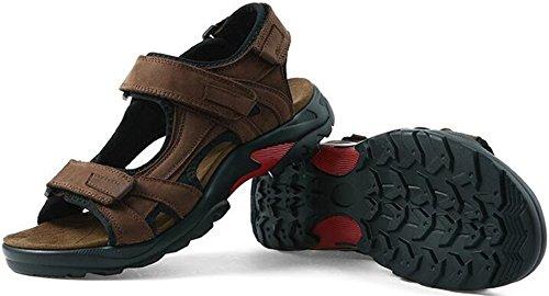 Ppxid Menns Lær Store Størrelse Stropp Gladiator Sandaler Sand Sko Brune