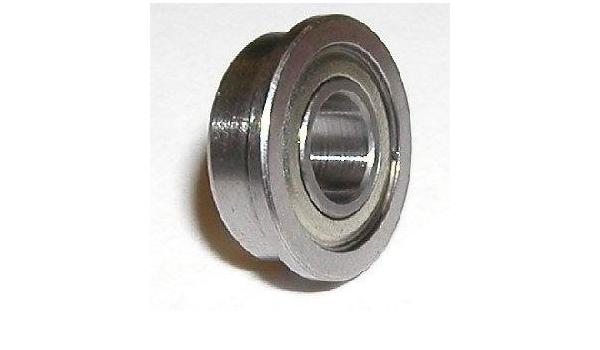 FR2ZZ 1//8x3//8x5//32 inch 5 PCS Miniature Metal Bearing Flanged Ball Bearing