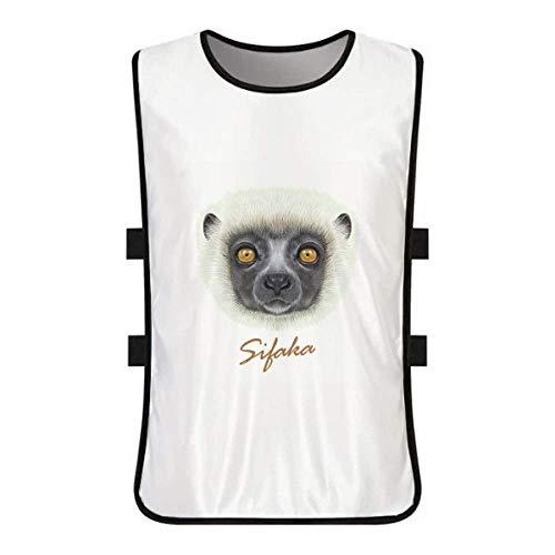 White Fluffy Sifaka Monkey Animal White Training Vest Jerseys Shirt Cloth