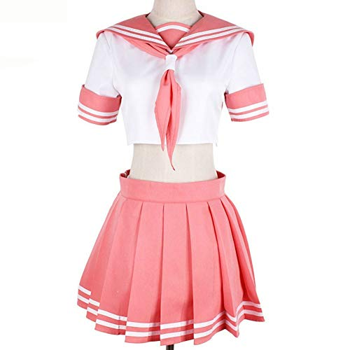 Anime Fate Black Rider Sailor Suit Cosplay Costumes Pink Top Skirt Halloween Christmas Unifor(L) ()