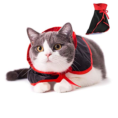Kuiji Cosplay Pet Clothes,Cat Small Dog Party Costume Pet Clothing for Holiday Dressing up Party, Vampire Cloak 1 -