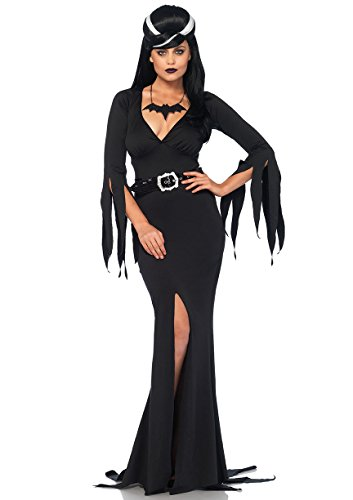 Leg Avenue Women's Immortal Morticia Mistress of The Dark Costume, Black, Med/LGE -