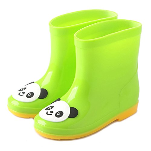 Mädchen Kinder Regen Stiefel Lovely Tier Stiefel Grün