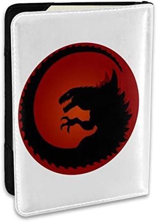 Godzilla Logo ゴジラ ロゴ パスポートケース パスポートカバー メンズ レディース パスポートバッグ ポーチ 収納カバー PUレザー 多機能収納ポケット 収納抜群 携帯便利 海外旅行 出張 クレジットカード 大容量