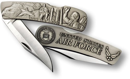 Air Force Lockback Knife - Small Nickel - Force Lockback Knife Air