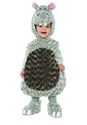 Underwraps Kid's Toddler's Plush Hippo Belly Babies Costume Childrens Costume, Gray, Medium for $<!--$23.30-->