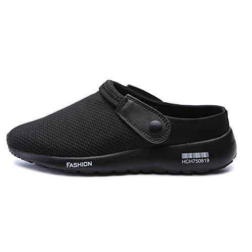 Hommes Plage Noir Chaussures Jardin D'Été Dérapant SCIEU Anti Sandales Blanc Pantoufles Respirant de vP6FpPwqdW