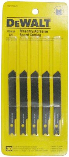 (DEWALT DW3718-5 3-Inch Masonry Board Cut Cobalt Steel U-Shank Jig Saw Blade (5-Pack))