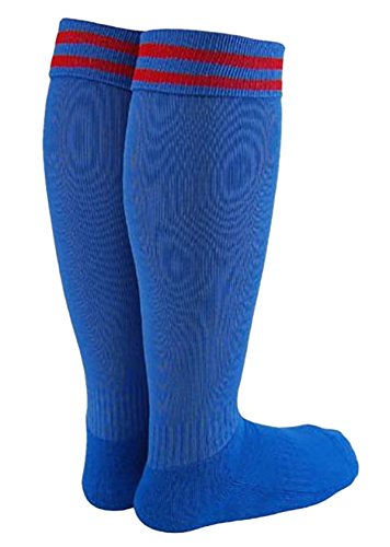 Lian LifeStyle Boy's 1 Pair Knee High Sports Socks for Baseball/Soccer/Lacrosse XS (High Five Blue Soccer Uniform)