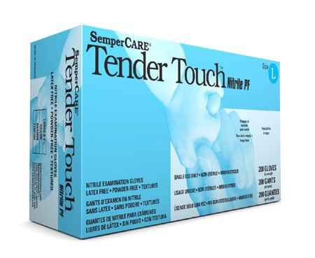 Sempermed Sempercare Tender Touch Nitrile Powder Free Exam Medical Gloves, X-Large (10 Boxes: 2000 Case) by SemperCare (Image #2)