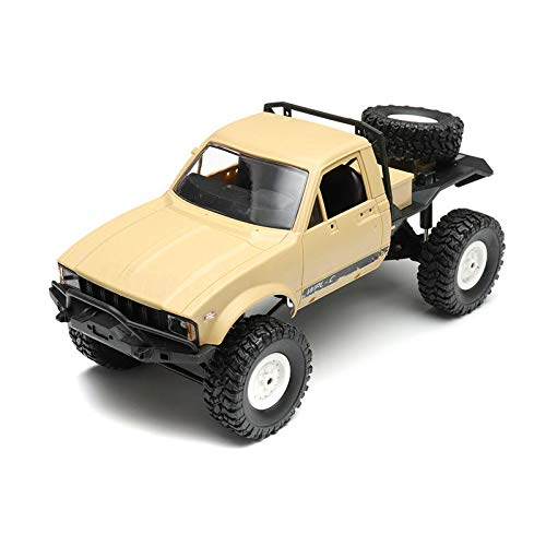 SGI WPL C14 1/16 2.4G 4WD Off Road RC Military Car Rock Crawler Truck with Front LED RTR Toys - Beige