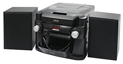 (RCA (RS22363) 3-Disc CD Stereo Audio Shelf System - Digital AM/FM Tuner with Station Memory and Line-in Connectivity )