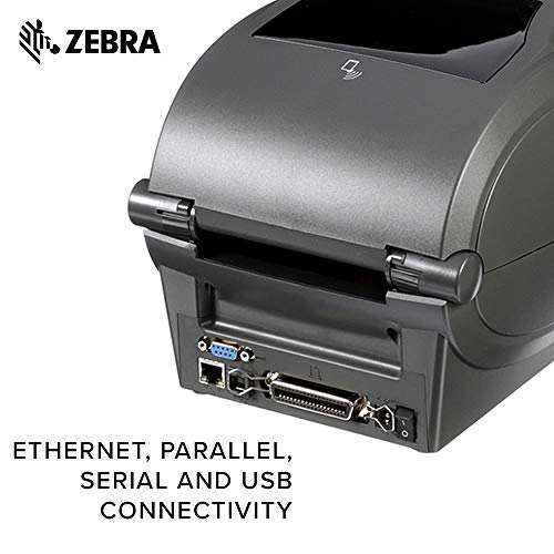 Zebra - ZD500t Thermal Transfer Desktop Printer for Labels and Barcodes - Print Width 4 in - 300 dpi - Interface: Ethernet, Parallel, Serial, USB - ZD50043-T01200FZ by Zebra Technologies (Image #4)