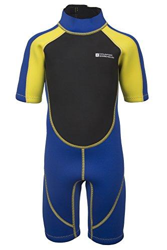 Mountain Warehouse Kinder Shorty Schwimm Tauch Bade Wasser Anzug Neopren Urlaub Wassersport Gelb 152
