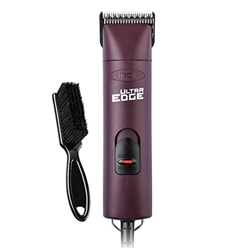 Andis UltraEdge Super 2-Speed Detachable Blade Clipper, Professional Animal Grooming, Burgundy, AGC2, with A Bonus Blade Brush by Andis