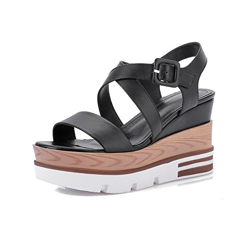 BalaMasa Womens Mule Cold Lining Non-Marking Urethane Platforms Sandals ASL05166 Black LBTUF