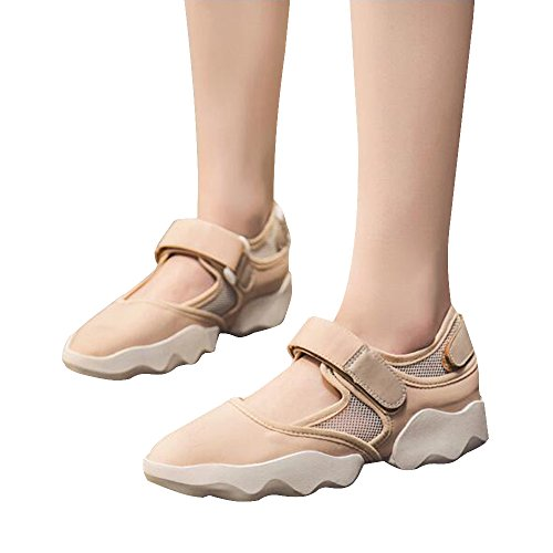 BININBOX Women's Casual Sneakers Summer Breathable Mesh Flat Shoes